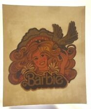 Vintage Iron On Heat T-Shirt Transfer: BARBI Doll Glitter