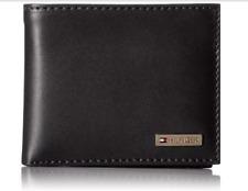 Tommy Hilfiger - Genuine Black Leather Men's Multi-Card Passcase Bifold Wallet