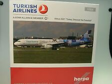 """Herpa Wings A321 Turkish Airlines """"Turkey, Discover the Potential"""" 557900, 1:200"""