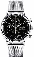 IW391010 | IWC PORTOFINO CHRONOGRAPH | BRAND NEW BLACK DIAL 42MM MENS WATCH