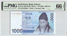 New listing South Korea Nd (2007) P-54 Pmg Gem Unc 66 Epq 1000 Won