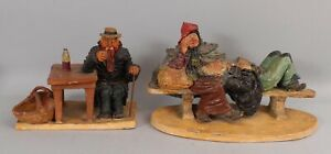 RARE Antique French Jean Marie Falke Sculpted Pottery Social Realism Sculpture
