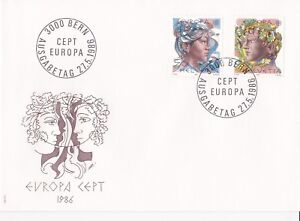 SW157) Switzerland 1986 EUROPA Stamps - Nature Conservation FDC.