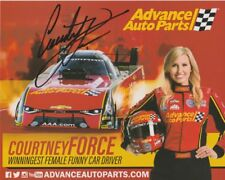 2017 Courtney Force signed Advance Auto Parts 2nd issued Camaro FC NHRA postcard