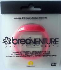 £ 1.49 BREO VENTURE Neon Rosa Orologio di gomma + BATTERIA gratuito-Taglia S - 30,000+ F/BK