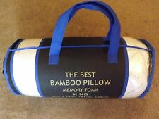 NIB King Original Best Bamboo Memory Foam Hypoallergenic Pillow With Carry Bag