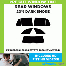 MERCEDES C-CLASS ESTATE 2008-2014 (W204) 20% DARK REAR PRE CUT WINDOW TINT