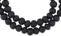 Recycled Beads African Krobo powder glass trade beads black necklace Ghana new
