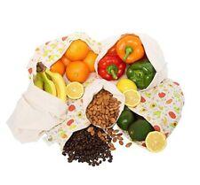 Reusable Produce Bags Cotton Washable Cloth Bag with Drawstring | Organic Cotton