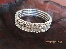 Elements of Swarovski 18ct White Gold Plate 4 Row Pave Bracelet- Lovely Gift
