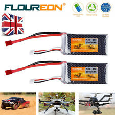 2pcs 2S 7.4V 1500mAh 35C Li-Po Battery Deans for RC Hobby Car Truggy Helicopter