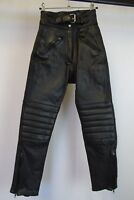 Women's Vintage Leather Motorcycle Trousers Pants Size 10 AA1279