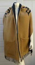 BURBERRY WOOL & CASHMERE HOODED SHAWL SCARF GUARANTEED AUTHENTIC RARE ITEM NEW