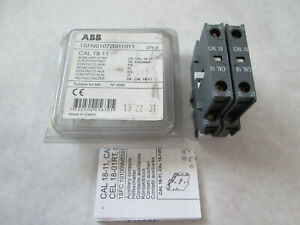 Lot of 2 New ABB CAL18-11 1SFN010720R1011 Auxiliary Contacts