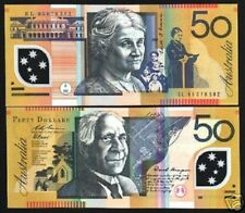 New listing Australia 50 Dollars P60 B 2004 Drawing Polymer Unc Currency Money Bill Banknote