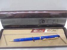 Penna a sfera COLIBRI of London VINTAGE blu placcata oro-Ballpoint pen-Biro