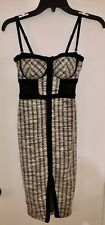 Women's Dress Material Girl Black Plaid Corset Bandage Regular Size XS $59.50