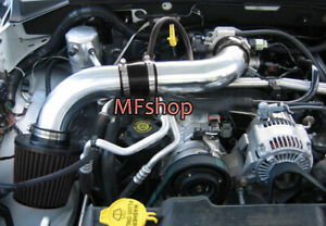 All Black For 2PC 2003-2010 Dodge Dakota 3.7L V6 Air Intake Kit + Filter