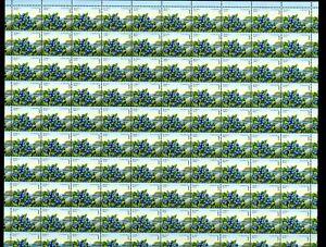 LOT 90812 MINT NH 1349 FULL SHEET EDIBLE BERRIES DEFINITIVE BLUEBERRY
