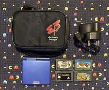Nintendo GameBoy Advance SP, 4 Games & A Case