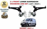 FOR PEUGEOT EXPERT 2007-> 2x FRONT LOWER SUSPENSION WISHBONE ARM LEFT + RIGHT