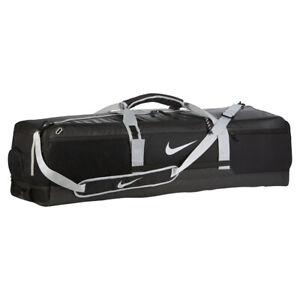 NIKE QUIVER Lacrosse Large DUFFEL Gear Bag Sticks Equipment Backpack Pads Black