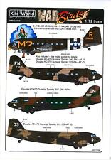 Kits World Decals 1/72 Douglas C-47 Skytrain & C-53 & Ac-47 Gunship