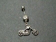 Motorcycle Belly Button Ring Hot and Sexy Dangly