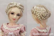 "1/3 bjd 8-9"" doll head blonde color vintage buns wig dollfie Luts Iplehouse"