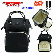 Mom Diaper Bag Backpack Large Capacity Maternity Baby Nappy Handbag For Child Us