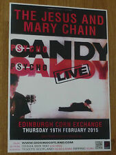 The Jesus And Mary Chain - Edinburgh feb.2015 tour concert gig poster