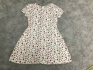BNWOT GIRLS INNOCENCE CREAM AND MULTICOLOURED FIT AND FLARE DRESS AGE 9