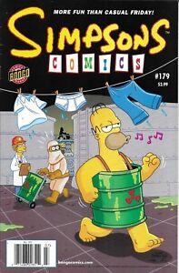 Simpsons Comic 179 Cover A First Print 2011 Matt Groening Gerry Duggan Bongo