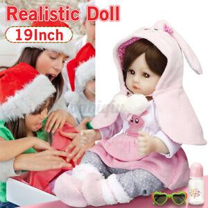 🔥Realistic Newborn Baby Dolls Lifelike Handmade Newborn Silicone Girls Gifts AU