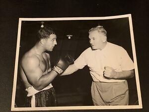 Rare Original Rocky Marciano, James Braddock Type 1 Boxing Photo Nice