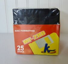 MAC Formatted MF-2HD 1.44MB K Hypermedia Diskettes 25 Pack New Sealed