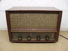 Vintage Philco E-976 Table Top AM/FM Tube Radio Mahogany Wood Used Parts/Repair