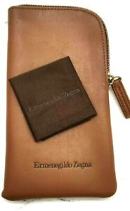 New Authentic ERMENEGILDO ZEGNA Soft Glasses Case Pouch Bag Original TRAVEL