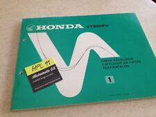 Honda VT250F D VT250 F VT 250 parts list liste catalogue pièce détachée