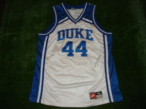 Vintage Authentic NIKE Duke Blue Devils Cherokee Parks White Jersey 48 RARE SEWN