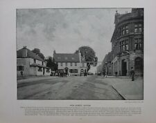 1896 LONDON PRINT + TEXT HIGH STREET SUTTON SURREY