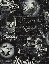 Timeless Treasures Wicked Gothic Halloween Motifs 100% cotton fabric by the yard