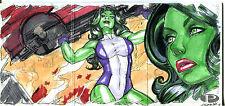 2012 Marvel Premier Upper Deck She Hulk ADRIANA MELO #1/1 Sketch Card Booklet