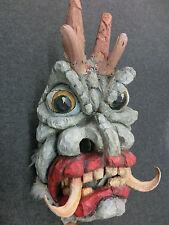 Alte große Krampusmaske - Perchtenmaske - Maske - Holzmaske - tragbar !