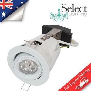 GIMBAL GU10 - WHITE SAFE DOWNLIGHT FRAME- ADJUSTABLE LED READY
