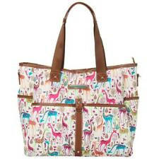 Lily Bloom Travel Tote Giraffe Park Luggage Large Overnight Bag ECO Friendly NWT