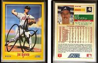 Joe Boever Signed 1988 Score #542 Card Atlanta Braves Auto Autograph