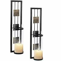 Shelving Solution Wall Sconce Candle Holder Metal Wall Decorations for Living...