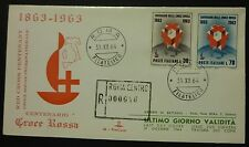 LAST DAY COVER - CENTENARIO CROCE ROSSA 1964 - NUMERATA 52/200 RACC.
