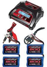 New RedCat HX-403 Dual Port AC/DC LiPo Charger & 4 Volcano 18 V2 Lipo Batteries